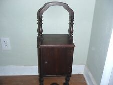 Antique wooden smoking stand cabinet with handle