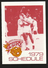 1979 Philadelphia Fury Schedule--Getty