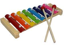 Xylophon bunt für Kinder aus Holz & Metalll mit 8 Töne Metallophon Musik NEU