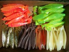 "15ct ASSORTED Colors 6"" SASSY SWIMBAITS,SHADS,Swim Baits Lures,Boot Tail Minnows"