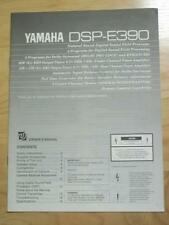Original Owner / User Manual for the Yamaha DSP-E390 Field Processor~Not Stolen