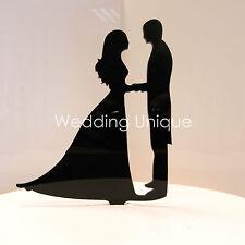 Wedding Cake Topper sposa e sposo SILHOUETTE Acrilico FIGURINA proposta TOPPER