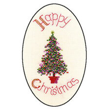 Derwentwater Designs Festive Tree Christmas Card Cross Stitch Kit