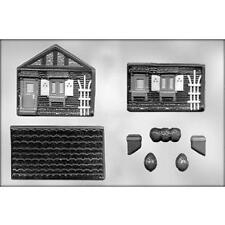3D House 2 pc Clear Chocolate Candy Mold CK 90-13640 New