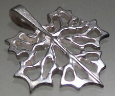 Silver Plated Canadian Maple Leaf Pendant  Jewelry 1 by 1 inch