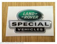54X30MM GREEN LAND ROVER SPECIAL VEHICLES DOMED STICKER -  DEFENDER DISCOVERY