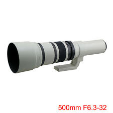 500mm F6.3-32 Mirror Telephoto Lens for Panasonic Olympus M4/3 Camera + T2 Mount