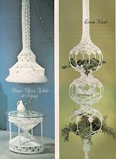 Macrame Love Nest, Table & Lamp Patterns - #OPUS4 Fiber Form & Fantasy - Book