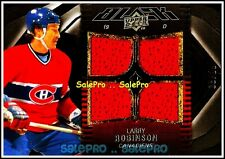 UD BLACK 2009 LARRY ROBINSON MONTREAL CANADIENS #23 RARE QUAD GAME JERSEY /99