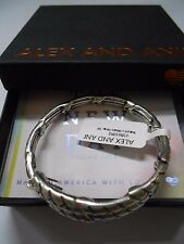 Alex and Ani THE NEW DAY Natures Weave Wrap Bracelet Rafaelian Silver NWTBC