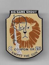 DISNEY LION RIFLE BIG GAME SHOOT C TICKET ADVENTURELAND SIGN DL 50th SET PIN NEW