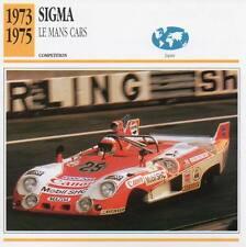 1973-1975 SIGMA Le Mans Racing Classic Car Photo/Info Maxi Card