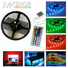 5M 300 LED 5050 RGB MultiColour Changing Waterproof Strip Light Remote Lighting