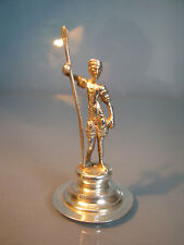 ~ Miniature solid silver sculpture of a soldier with spear on plinth dutch marks