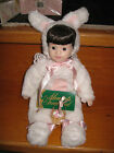 """BRAND NEW MOMENTS TREASURED 15"""" Porcelain Doll**APRIL**in BUNNY COSTUME~*EASTER*"""