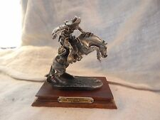 "Vintage Chilmark Pewter Statue ""Bronco Buster"" Fredric Remington 1987"