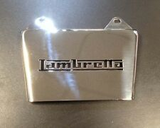 "Mud flap ""LAMBRETTA"" in stainless steel"