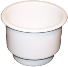 Single WHITE Plastic Cup Holder Boat RV Car Truck Inserts Large Size Jumbo
