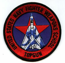 TOP GUN FLIGHT SUIT SSI SHOULDER SLEEVE INSIGNIA: TOP GUN WEAPON SCHOOL PATCH