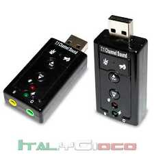 USB External Hi Quality 3D 7.1 Audio Sound Card Adapter Scheda Esterna Headphone