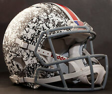 *CUSTOM* OHIO STATE BUCKEYES Riddell SPEED Football Helmet (DIGITAL SNOW CAMO)