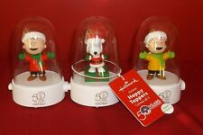 Peanuts A Charlie Brown Christmas Happy Tappers Set Of 3 Snoopy Linus New 50Th