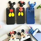 3D Cute Funny Cartoon Soft TPU Silicone Case Cover for iPhone 4S 5S 6 6S 6S Plus