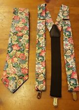 Concerto Tie & Pelican USA Suspenders/Braces, Floral Print, Polyester, Set