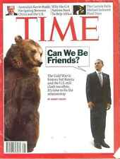 TIME Magazine - Russia vs USA, G-8 Africa, Michael Jackson death, July 13 2009