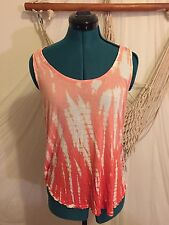 NWT Young Fabulous And Broke Tie Dye Orange Draped Cross Back Sleeveless Top Med