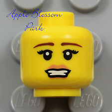NEW Lego 1 Female MINIFIG HEAD Cheerleader Girl Princess Series Pink Lips Smile