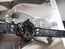 1939 ANTIQUE PILOT IWC CAL 97 SWISS MADE BLACK PVD 45mm CASE SAPPHIRE GLASS