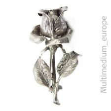 Art Deco Rose Silber Brosche Blume 30er silver pin brooch rose flower Mona 835