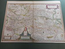 100% ORIGINAL LARGE AUSTRIA MAP BY HONDUIS C1636 VGC HAND COLOURED