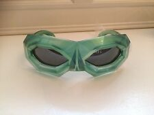 New Walter Van Beirendonck /Linda farrow Bright Diamond Mask Sunglasses, Emerald