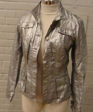 new OILILY silver gray jean jacket style 34 S sci fi