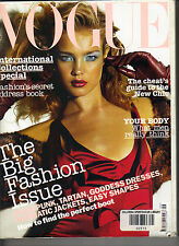 NATALIA VODIANOVA UK Vogue Magazine 9/03 Louise Pedersen Stella Tennant