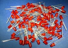 Bright Red LED 5mm .............Lot of 100 ............