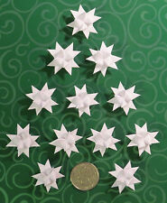 NEW 18 Miniature White German Moravian Froebel Paper Stars Christmas Ornaments