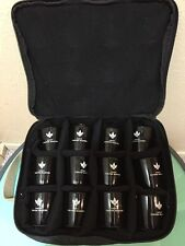 Rare Starbucks Coffee Master Kit Black Padded Case & 12 Shot Tasting Cups 1 Shot