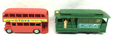 Powell and Mason Sts Vintage Plastic Green Cable Car Red Double Decker Bus Toys
