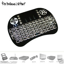 Wireless 2.4G QWERTY Tastature Maus Remote Backlit For Raspberry Pi PC Android
