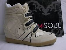 Heart Soul Size 8 M Iona2 Ice Suede Sneaker Wedges New Womens Shoes