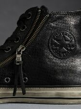 NIB $190 Converse by John Varvatos CT Leather DBL Zip Hi Black 147379C USMens 10