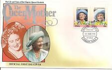 1985-TUVALU-FDC-QUEEN MOTHER.