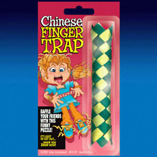 Chinese Finger Trap Bamboo Puzzle novelty trick party bag filler