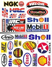 2SH. MOBIL 1 SHELL VELOIL ESSO HRC NGK AUTO LUBE STICKER DIE-CUT MOTOR SPORTS