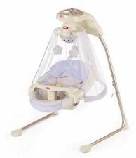Fisher-Price Papasan Baby Cradle Swing Starlight 6 Speed 2 Position seat New
