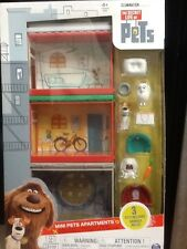 The Secret Life of Pets, Mini Pets Apartments Gift Set with 3 Pets, by Spin M...