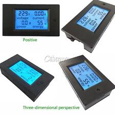 20A AC Digital LCD Panel Power Meter Monitor Power Energy Ammeter Voltmeter